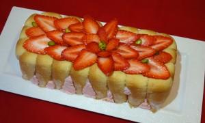 charlotte fraise pralin