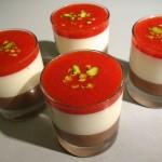panna cotta fraises chocolat