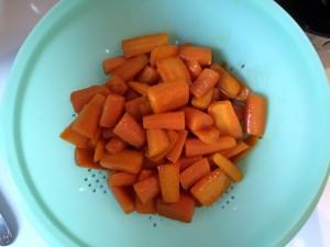 carottes à égoutter