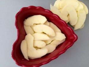 pommes coupées en lamelles