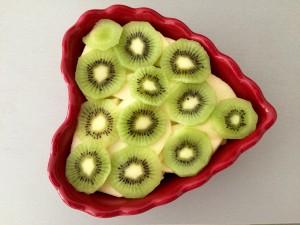 ajout des rondelles de kiwi
