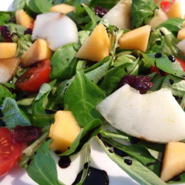 Salade melon tomate cranberry
