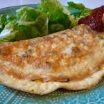 omelette tomates séchées basilic gruyère