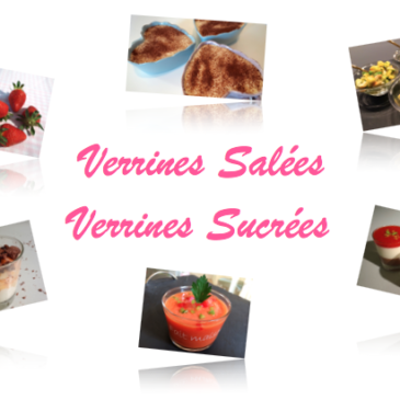 Carnet de recettes Verrines salées et sucrées