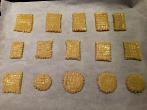 biscuits badigeonnés