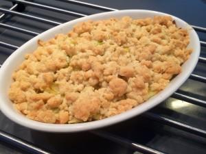 crumble de fondue de poireaux après cuisson