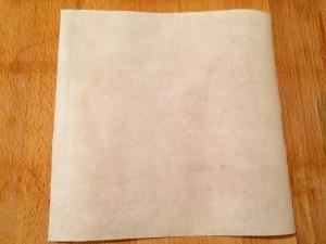 carré de papier cuisson