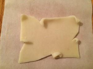 décoration de la pâte d'amande