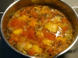 réalisation du bouillon de tomates