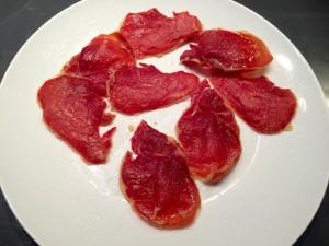 réalisation des chips de jambon cru