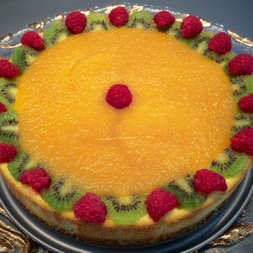 Cheesecake kiwi mangue framboise