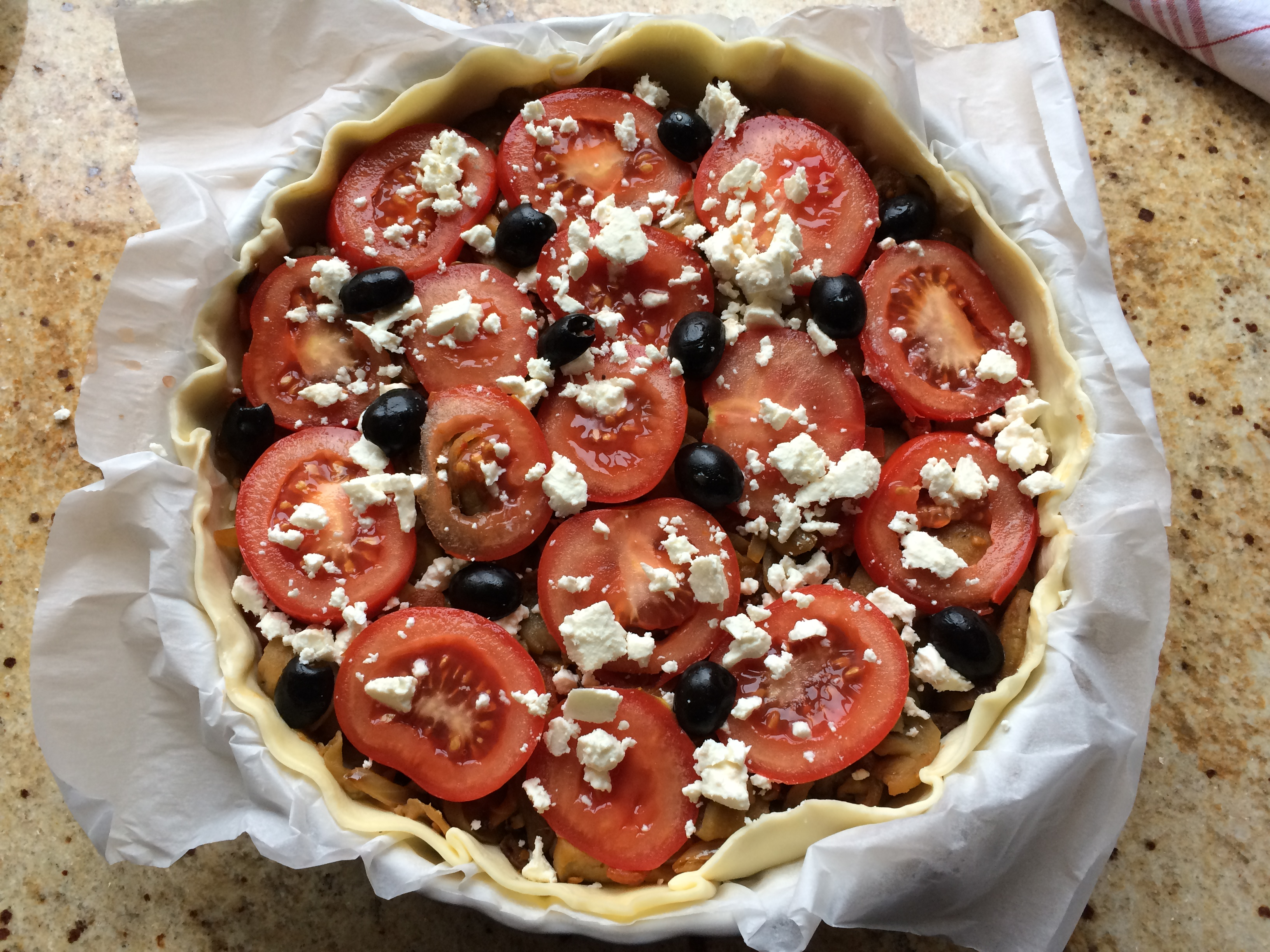 Tarte Aubergines Tomates Feta Sorosebonbons